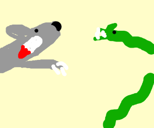 Flying Werewolf VS. Phiranaconda