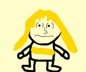 Blonde girl off of charlie brown