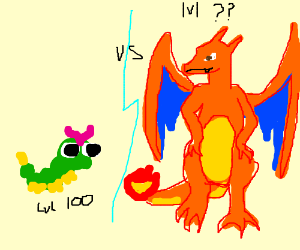 Lv 100 caterpi vs Charizard