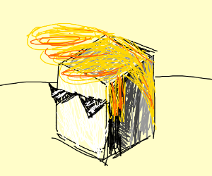 Cube with blond hair
