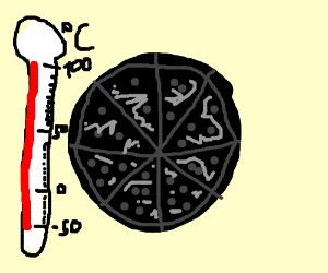 100 degree Celsius pizza is gross!