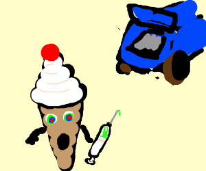 Ice Cream on Drugs with a garbage truck