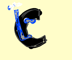 the letter C as a water breather
