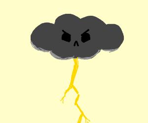 Angry lightning cloud
