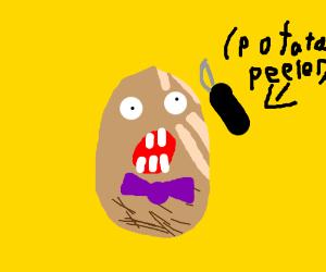 Mister potato head getting peeled