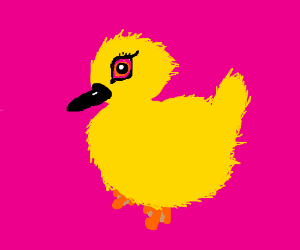 duckling with mascara