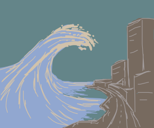 how to draw a tidal lines