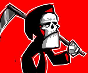 the grim reaper saves christmas - Drawception