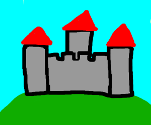 Castle in a field