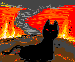 Demon cat in a Very Hot Place