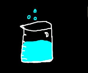 Chemicals in a glass beaker