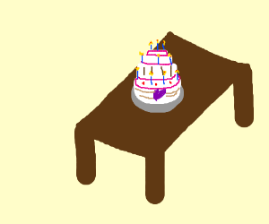 Tasty Well-Made Birthday Cake on Table