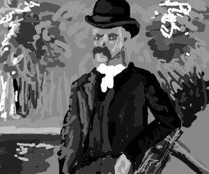 Old Timey Bowler Hat Man