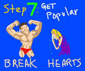 Step 6: Go and work out so you can fit in