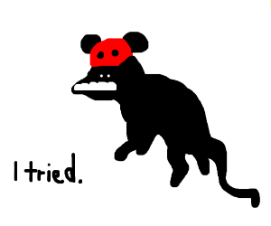 Rat wearing Mickey Mouse Ear Hat