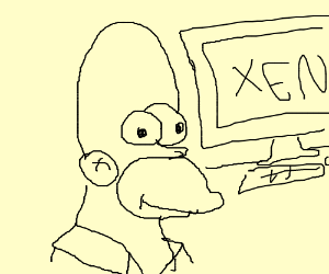 Homer simpson goes to XEN