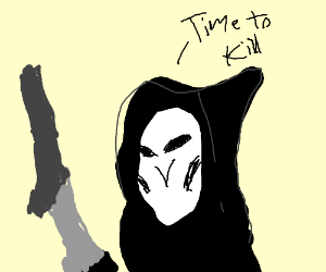 """Reaper from Overwatch saying """"time to kill"""""""