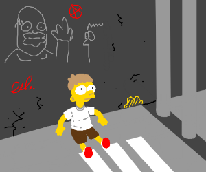 simpson named nougat saying ah in a dungeon