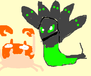 A crab and Zygarde just chilling