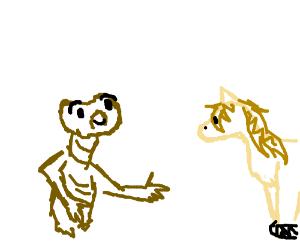 ET drew a horse