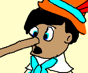 Pinocchio just told a lie