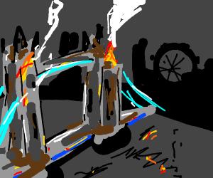 London bridge is burning down, burning down...