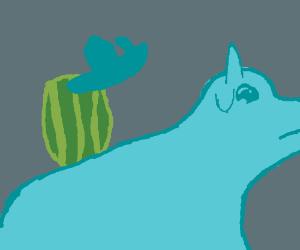 Melon boat head riding bull