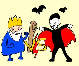 Ice King w/ Staff vs. Vampire w/ Bats