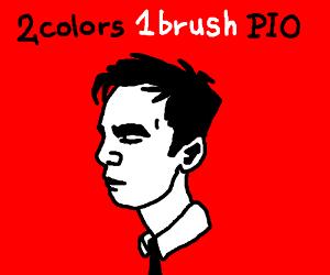 2 colors 1 brush PIO
