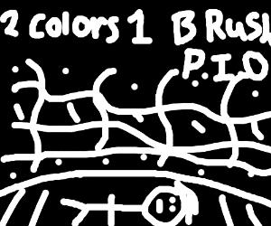 2 colors, 1 brush. PiO.