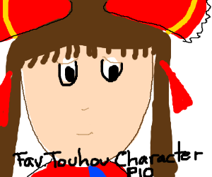 "words that say ""Fav Touhou character (P.I.O)"""