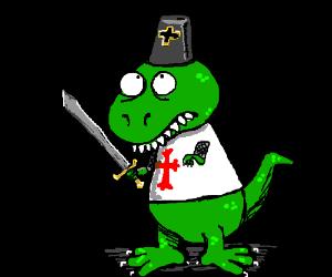 Tyrannosaurus rex as a Knight Templar