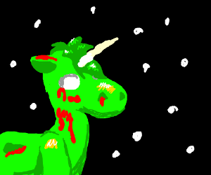 Zombie Unicorn in space!