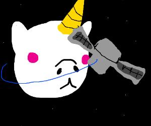 Satellite orbits Unicorn Planet