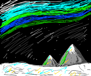 Winter night sky (use all ten minutes)