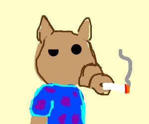 smoking alf