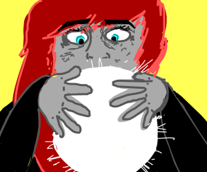 psychic looks into her crystal ball