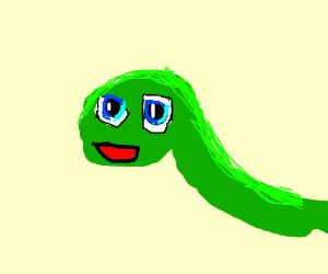 Snake with kawaii animu face
