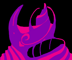 A dark but vivid alien mountain