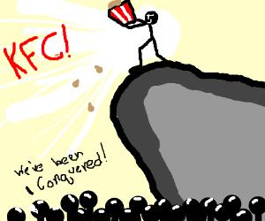 kfc man conqueres all