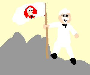 colonel sanders conquers the rock