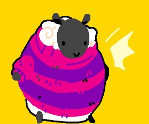 Sheep in Striped Sweater