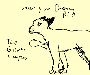 Draw your Daemon (TheGoldenCompass) P.I.O