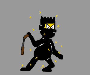 bart sparkly simpson the ninja