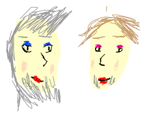 Two Guys With Makeup On