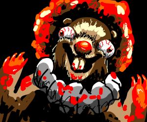 creepy beaver clown
