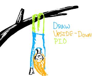 Free draw upside-down PIO