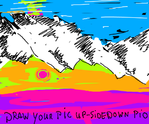 Draw your picture upside-down PIO