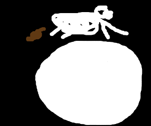 Cow jumping over the moon whist pooping