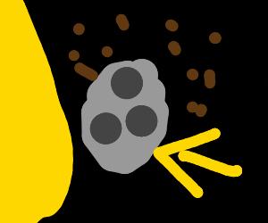 Raining poop on the moon